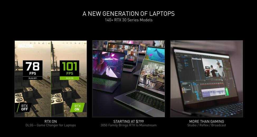 NVIDIA представила GeForce RTX 3050 и 3050 Ti для ноутбуков (image001)