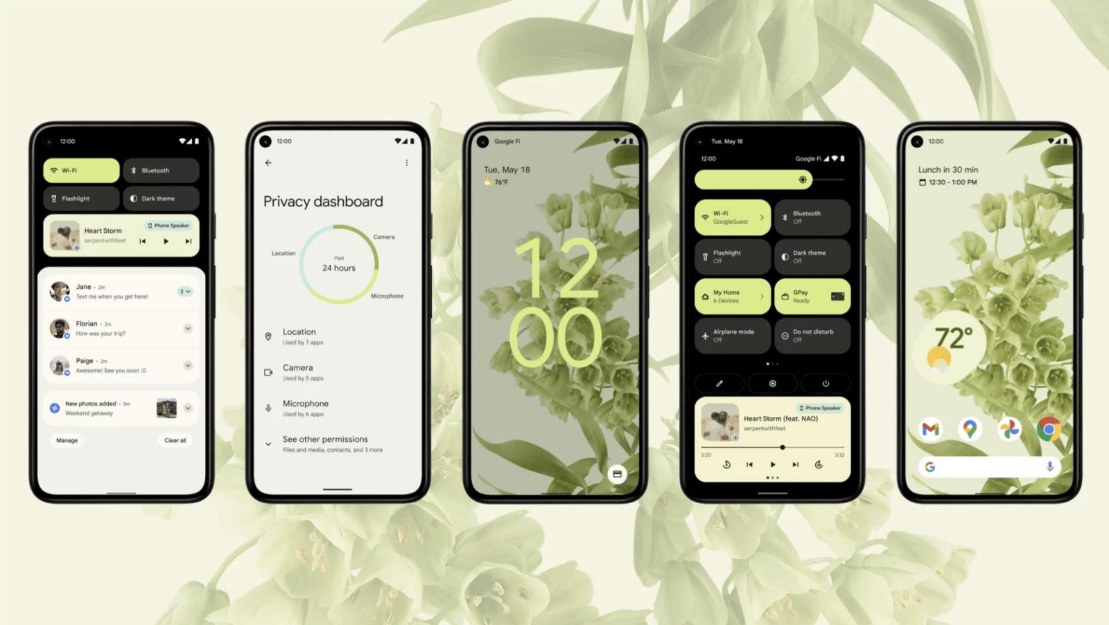 Обзор Android 12: отличный дизайн, улучшенная безопасность и кое-что общее с iOS (obzor android 12 beta 1 novyj dizajn i chastichnoe zaimstvovanie u ios 10)