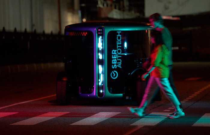 СберБанк показал прототип полностью беспилотного электромобиля (sber700)