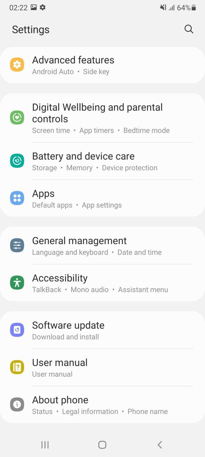 Обзор Samsung Galaxy A32 и A72: как делать надо и как не надо (screenshot 20210426 022217 settings 2)