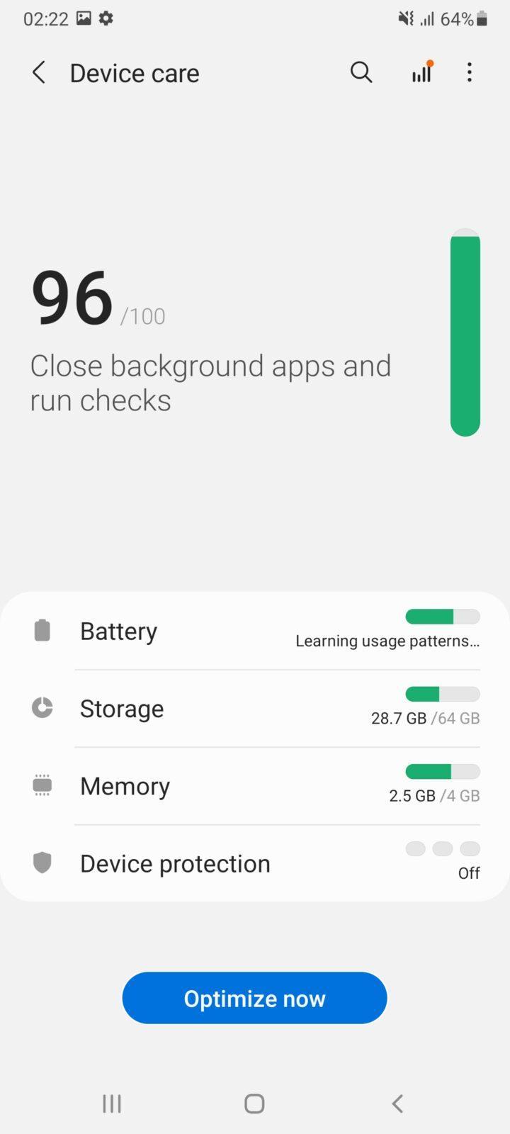 Обзор Samsung Galaxy A32 и A72: как делать надо и как не надо (screenshot 20210426 022250 device care 3)