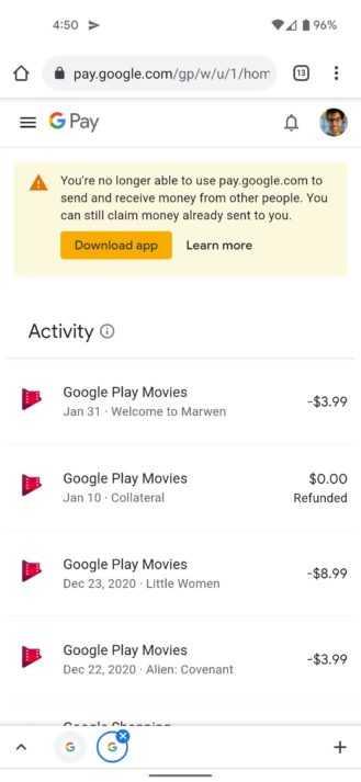 Старый Google Pay мертв — да здравствует новый Google Pay (screenshot 20210510 165055 329x713 1)