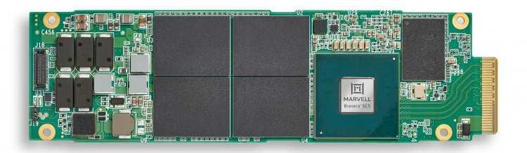 Marvell представили первые SSD-контроллеры с поддержкой PCIe 5.0 и впечатляющей скоростью чтения (sm.bravera sc5 e1.s evb front med.750)