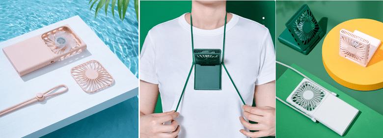 Xiaomi представила портативный вентилятор, который можно носить прямо на шее (zmi hanging neck folding fan 04)
