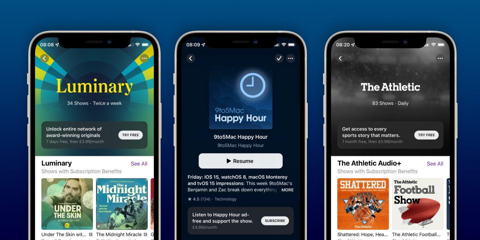 Подписки и каналы Apple Podcasts теперь доступны (apple podcast subscriptions)