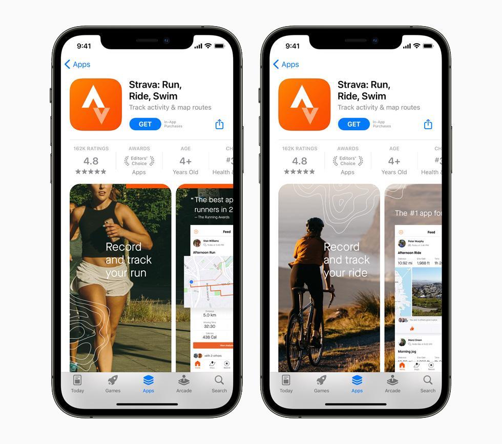Apple представила новые технологии и инструменты для разработчиков приложений (apple iphone12pro appstore strava 2up 060721 big.jpg.large)