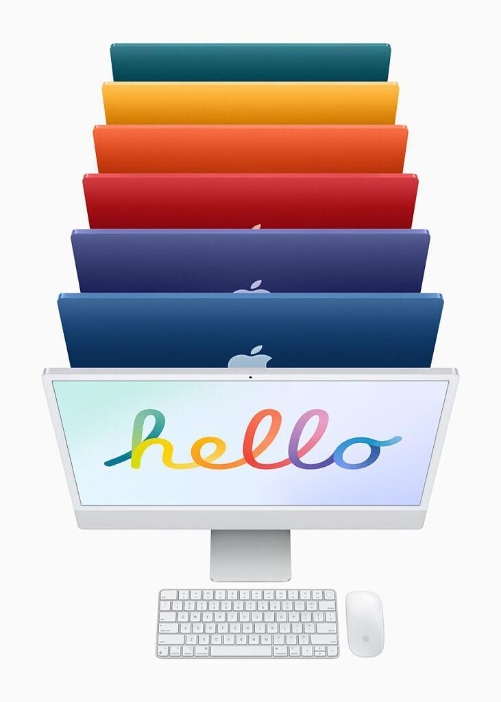 Mac с процессором Apple или Intel: какой Mac лучше купить? (apple new imac spring21 color lineup 04202021 731x1024 1)