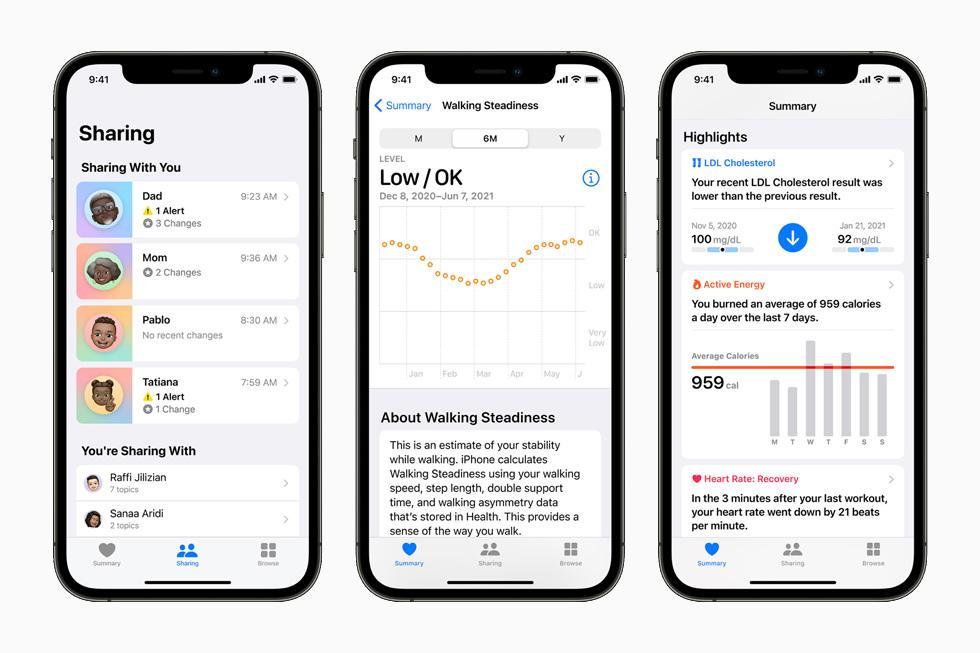 Apple позволит безопасно делиться данными о здоровье и покажет более подробную статистику (apple wwdc21 ios15 health app hero 06072021 big.jpg.large)