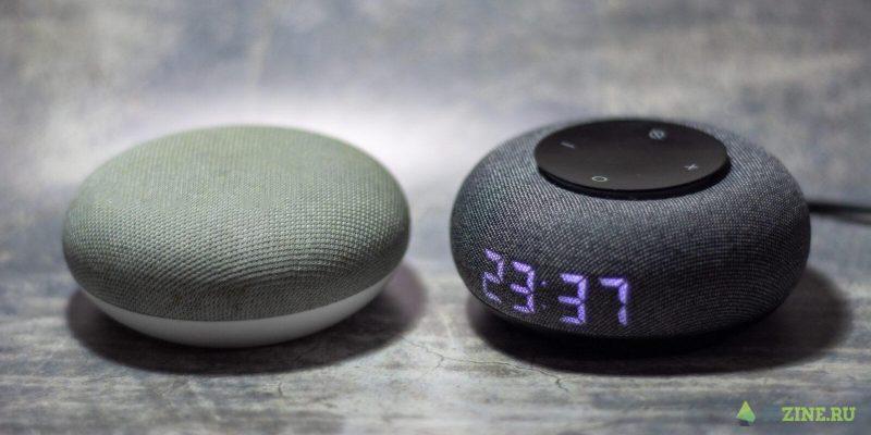 Умные колонки Капсула Мини и Google Home mini