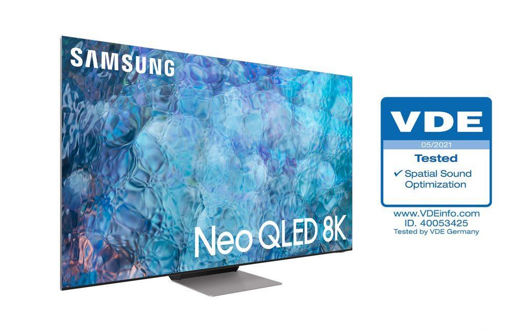 Телевизоры Samsung Neo QLED получили сертификат VDE Spatial Sound Optimization (neo qled tv 'spatial sound optimization 2 1024x647 1)