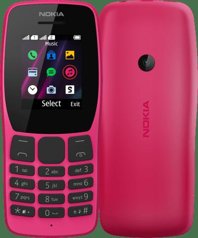 Nokia выпустила два кнопочных 4G-телефона Nokia 105 и Nokia 110 (nokia 110 front n back pink)
