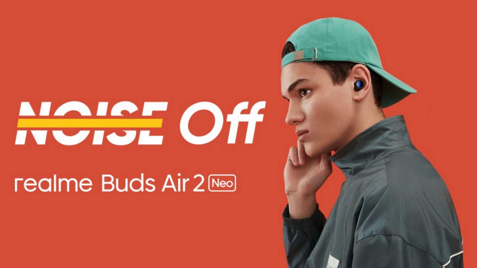 Realme представила в России беспроводные наушники Realme Buds Air 2 Neo