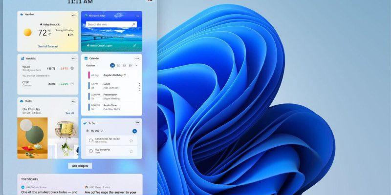 Часто задаваемые вопросы по Windows 11: всё, что стало известно (windows 11 widgets screen 100893483 large)