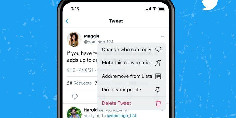 Twitter позволяет выбирать, кто может отвечать на ваши твиты (5f540620 e454 11eb 9dfc fc8a8bddd55b)