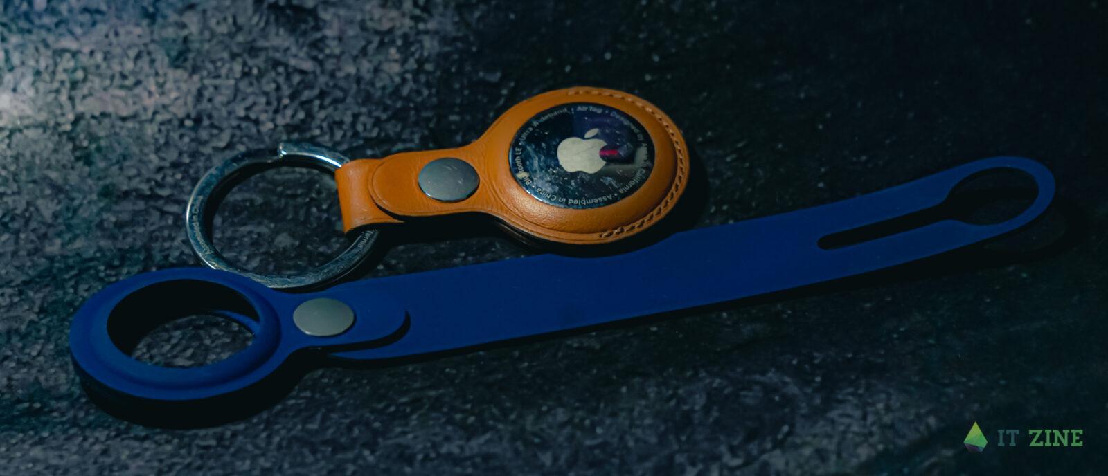 Кожаный и полиуретановый чехлы для Apple AirTag