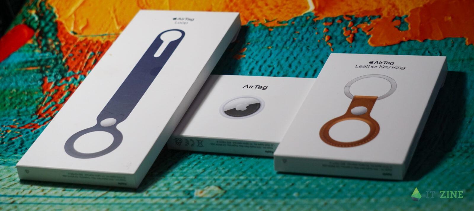 Упаковки Apple AirTag и аксессуаров
