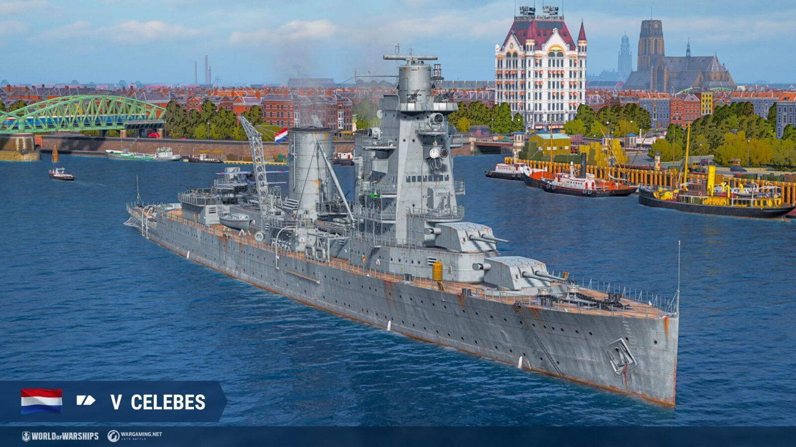 Крейсеры Нидерландов появятся в раннем доступе в World of Warships (celebes nl t5 ca screenshots realease 0 10)