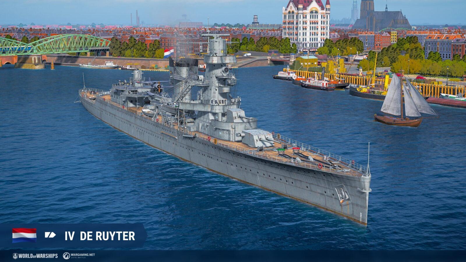 Крейсеры Нидерландов появятся в раннем доступе в World of Warships (de ruyter nl t4 ca screenshots realease 0 10 6 1920x1080 wg spb wows 1)