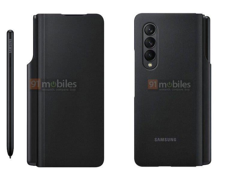 Samsung Galaxy Z Fold 3 получит особый чехол с местом для стилуса (fold2)
