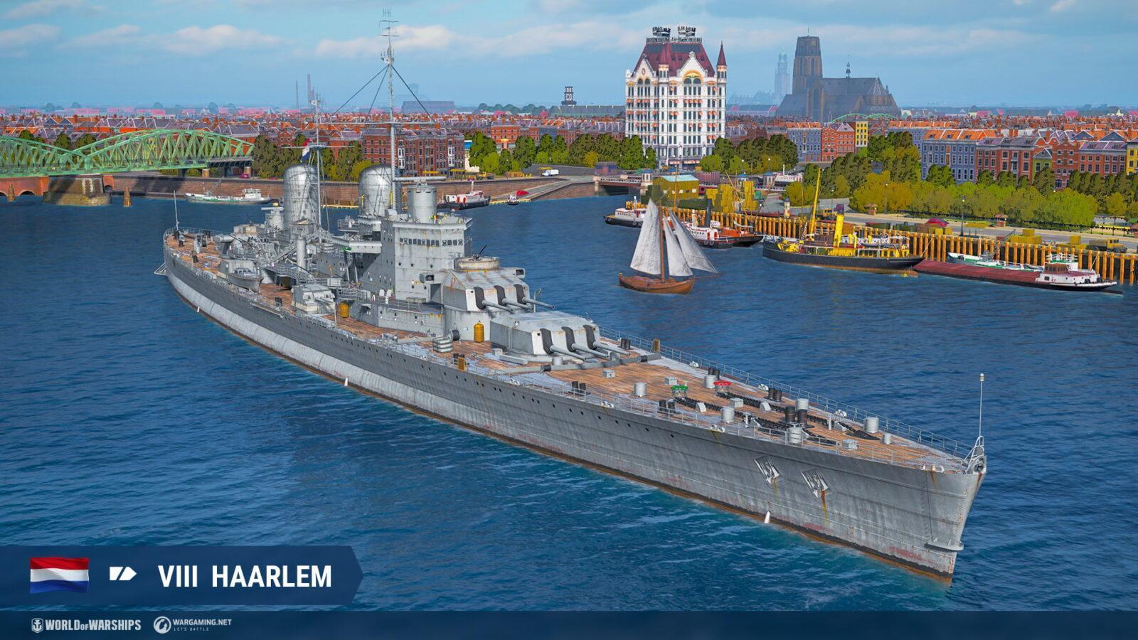 Крейсеры Нидерландов появятся в раннем доступе в World of Warships (haarlem nl t8 ca screenshots realease 0 10 6 1920x1080 wg spb wows 1)