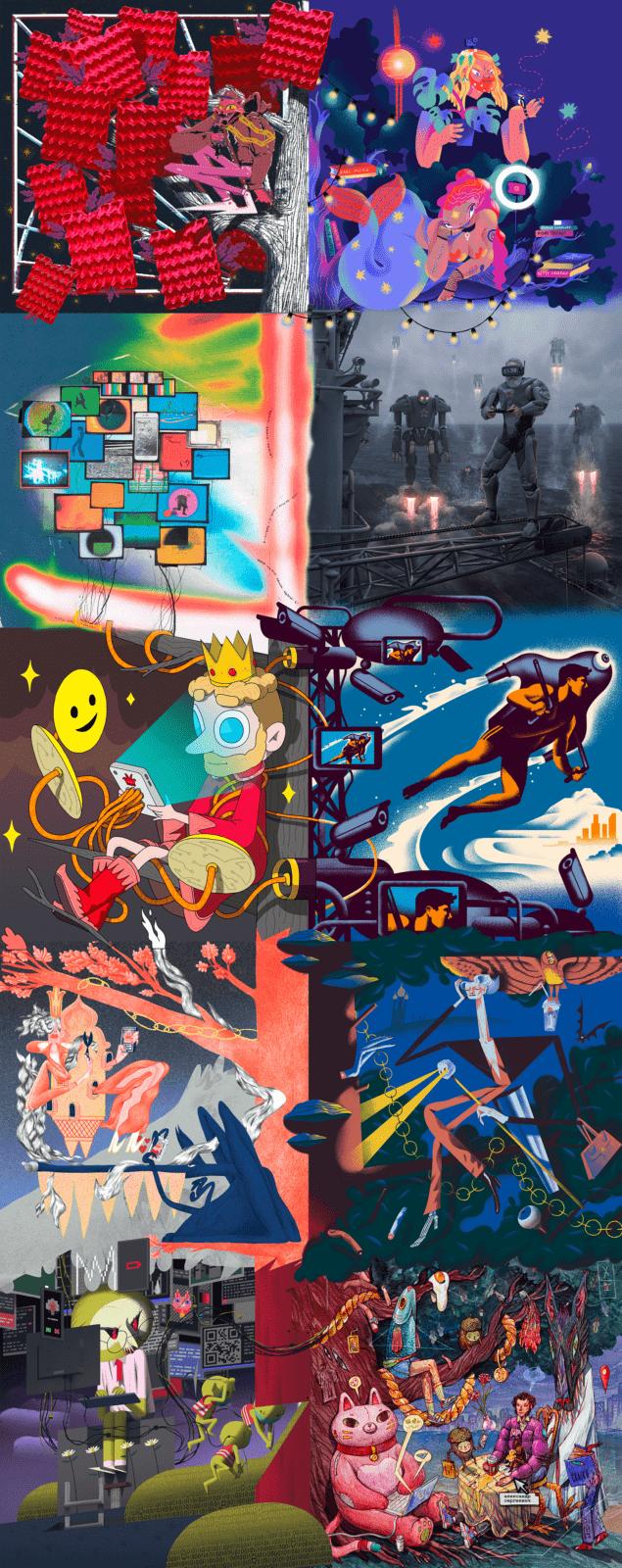 Adobe запустила конкурс цифрового искусства «Открой своё Лукоморье» (lukomore mural)