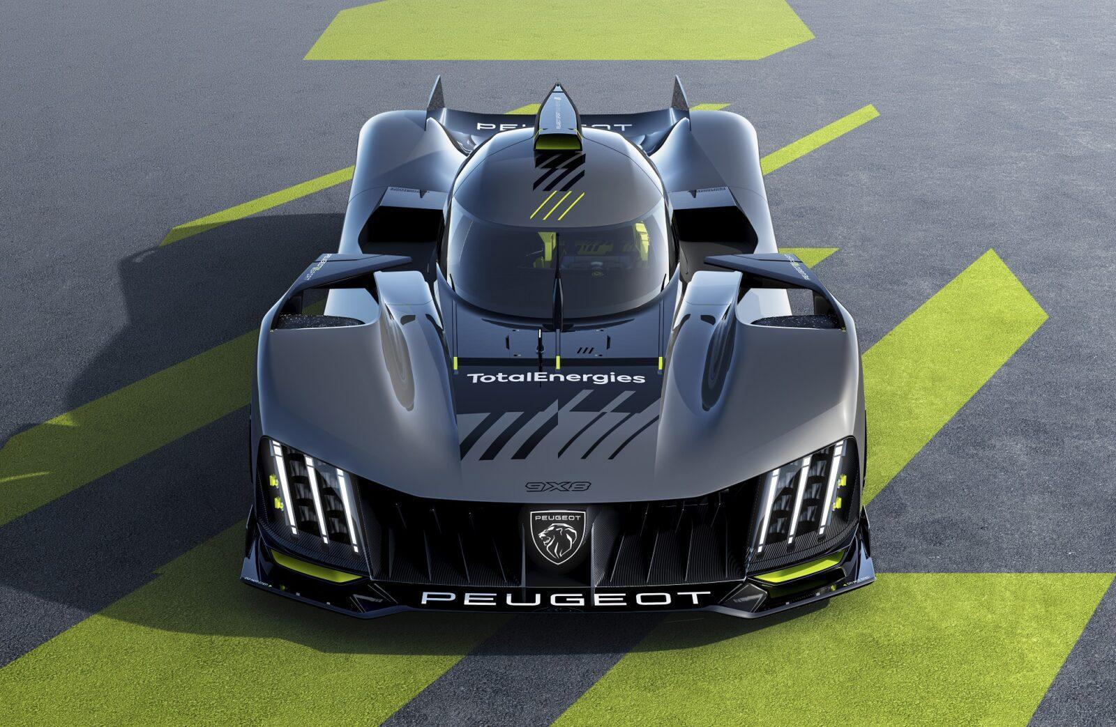 Вышел новый гиперкар Peugeot 9X8 (majeur kv 03 wec front)