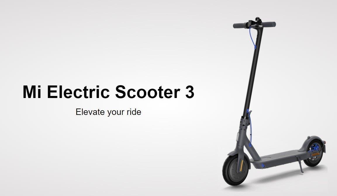 Xiaomi выпустила несколько новых продуктов на мировой рынок (mi electric scooter 3)