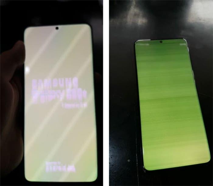 Экраны флагманов серии Samsung Galaxy S20 начали зеленеть (samsung galaxy s20 screen issue 1)