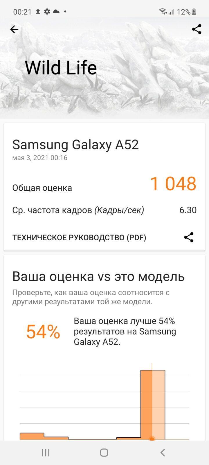 Обзор Samsung Galaxy A52: красивый, мощный и недорогой смартфон (screenshot 20210503 002137 3dmark)