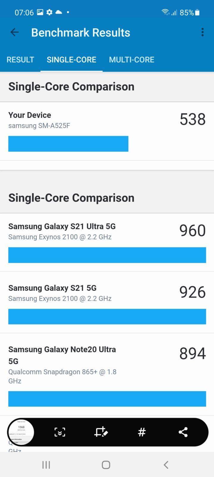 Обзор Samsung Galaxy A52: красивый, мощный и недорогой смартфон (screenshot 20210503 070604 geekbench 5)