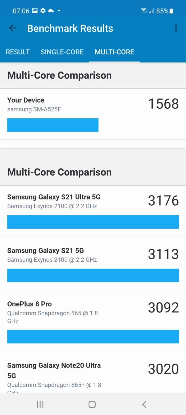Обзор Samsung Galaxy A52: красивый, мощный и недорогой смартфон (screenshot 20210503 070614 geekbench 5)