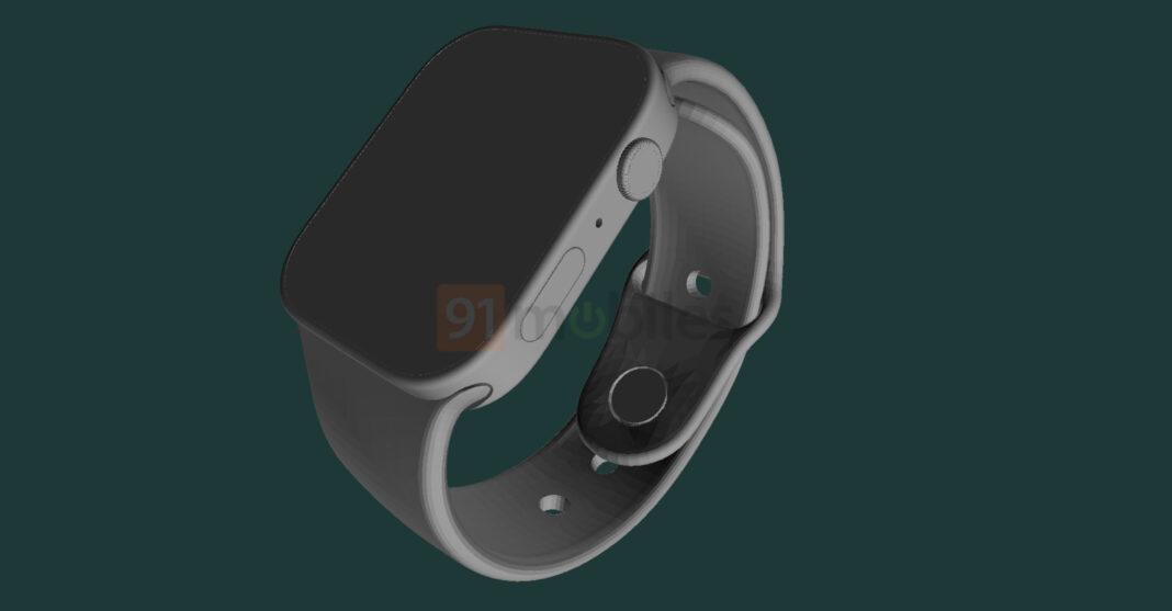 Apple Watch Series 7 показали на рендерах (apple watch series 7 cad renders 1068x557 1)