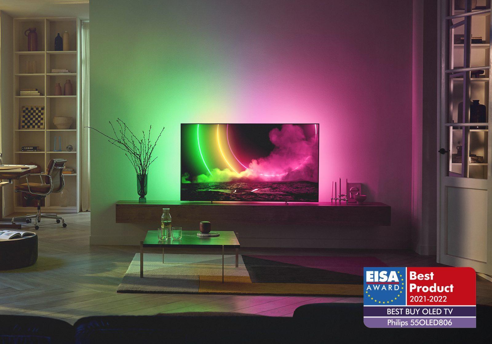Аудиотехника и телевизоры Philips получили четыре премии EISA (oled 806 lifestyle)