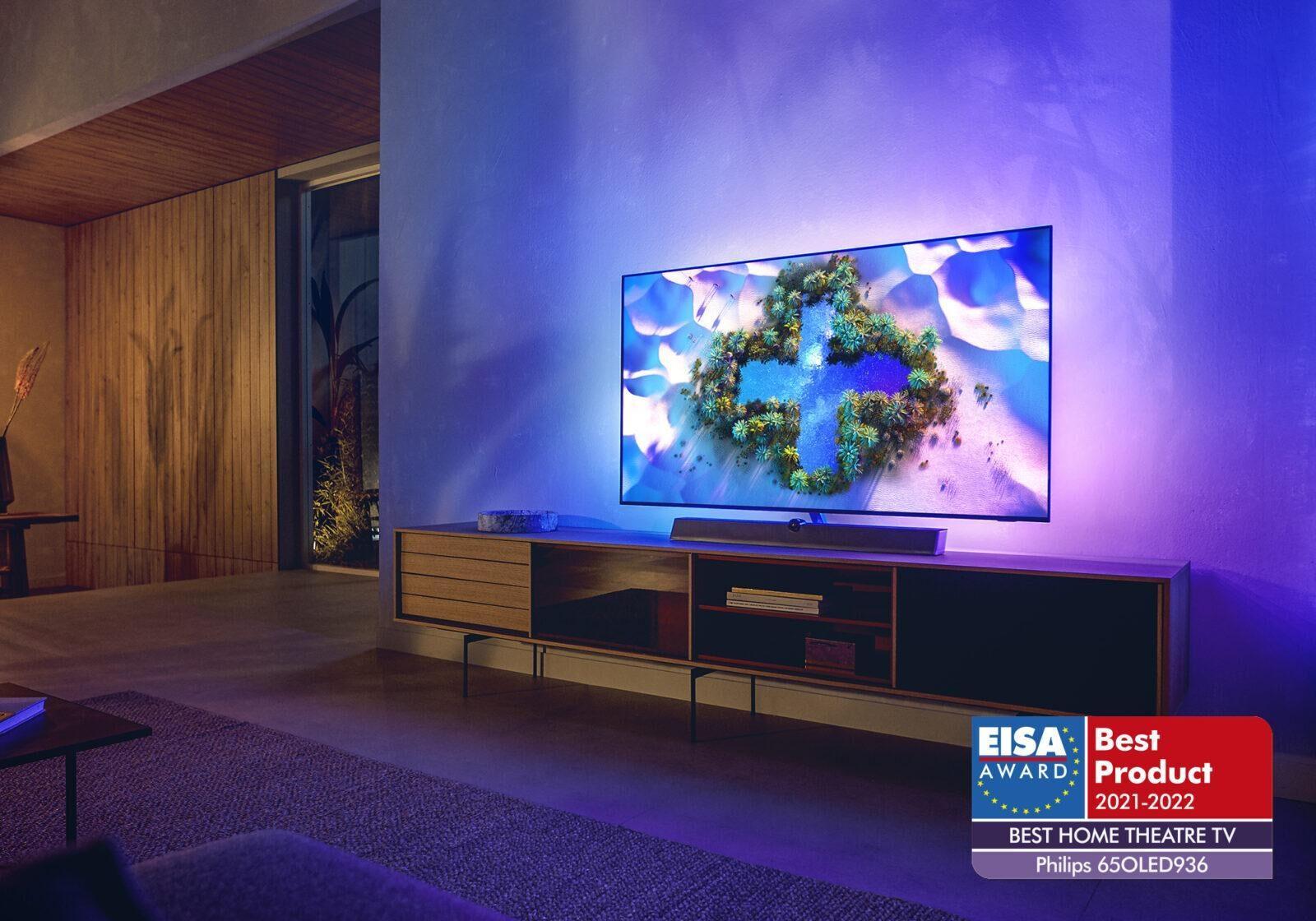 Аудиотехника и телевизоры Philips получили четыре премии EISA (oled 936 lifestyle)