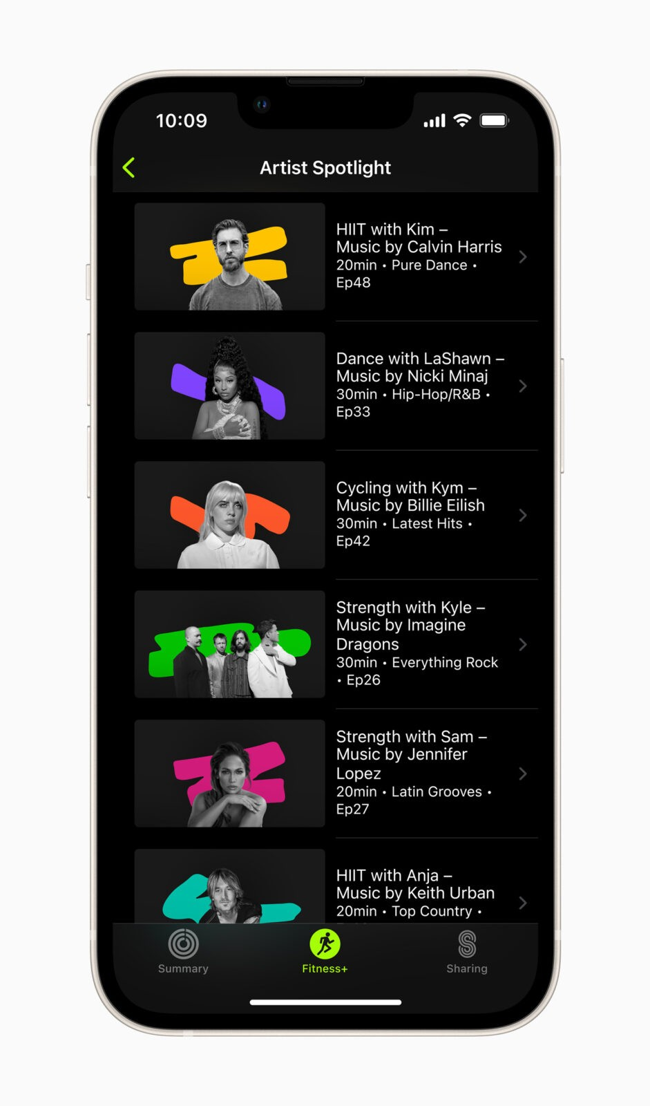 Сервис Apple Fitness+ заработает в России (Apple Fitness Plus Artist Spotlight 09142021)