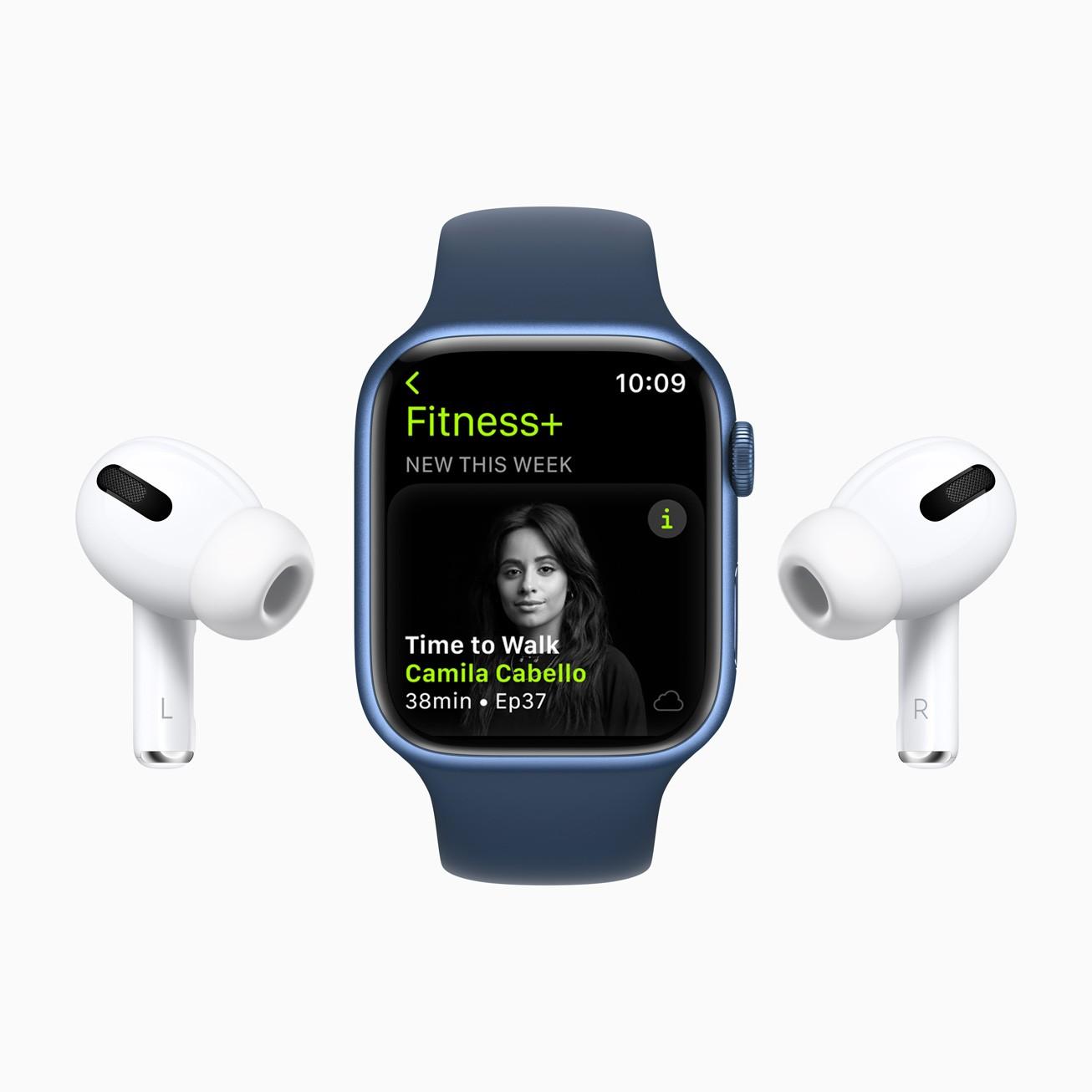 Сервис Apple Fitness+ заработает в России (Apple Fitness Plus Camila Cabello 09142021)
