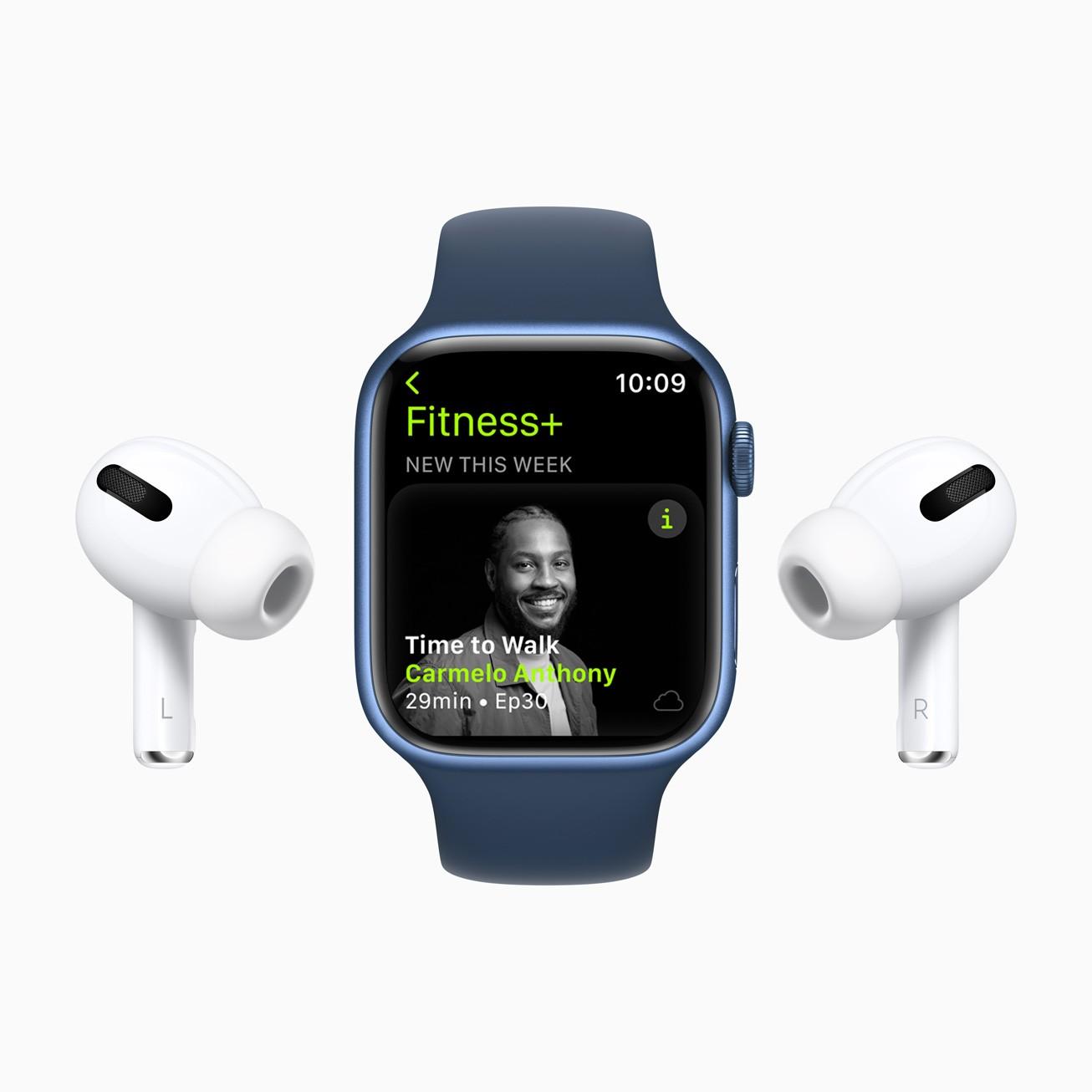 Сервис Apple Fitness+ заработает в России (Apple Fitness Plus Carmelo Anthony 09142021)