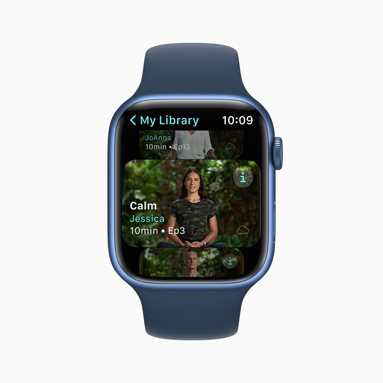 Сервис Apple Fitness+ заработает в России (Apple Fitness Plus Meditation Jessica 09142021)