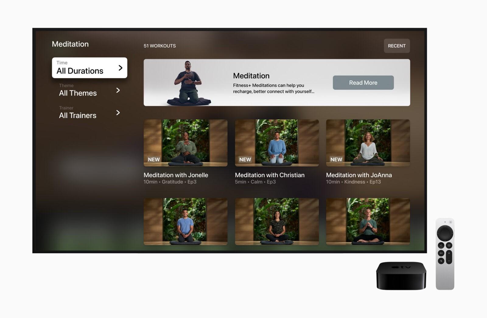 Сервис Apple Fitness+ заработает в России (Apple Fitness Plus Meditation TV 09142021)