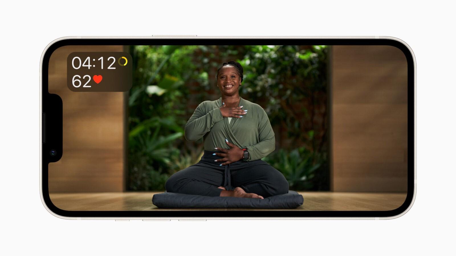 Сервис Apple Fitness+ заработает в России (Apple Fitness Plus Meditation 09142021)