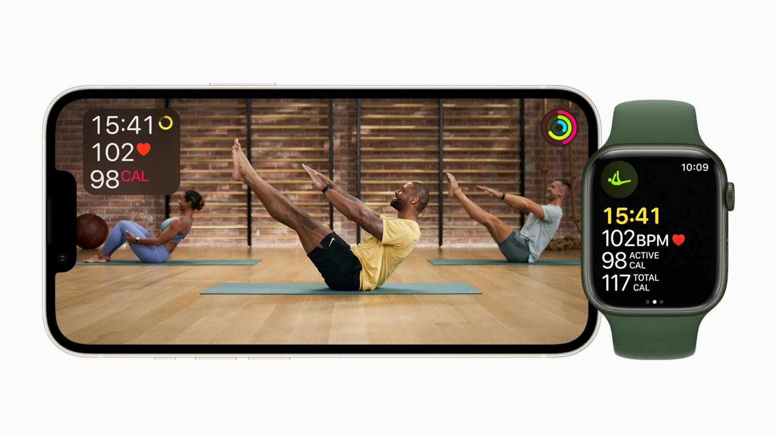 Сервис Apple Fitness+ заработает в России (Apple Fitness Plus Pilates 09142021)