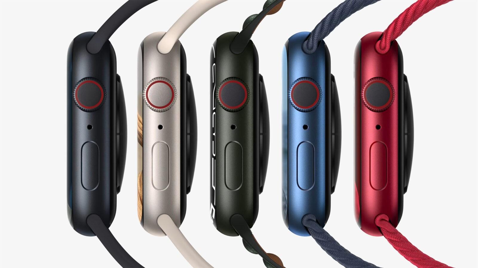Apple выпустила Apple Watch series 7, самые прочные часы (Apple watch series7 lineup 02 09142021)