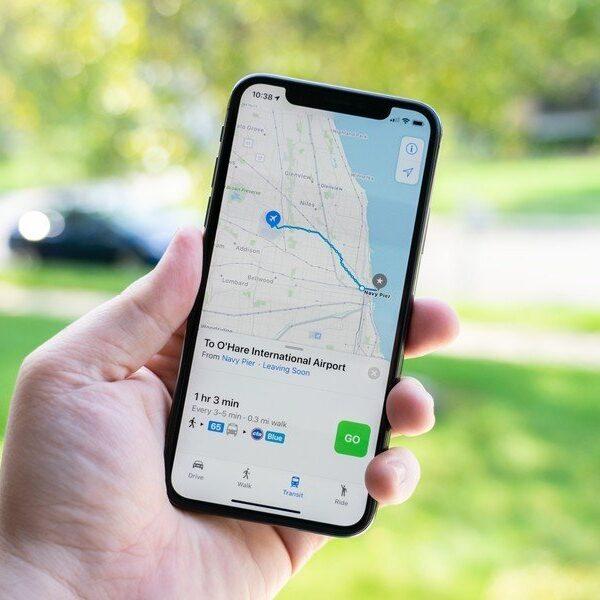 Как использовать отслеживание местоположения на iPhone (apple maps transit iphone x hero)