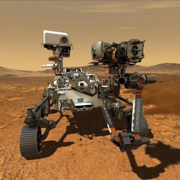 Марсоход Perseverance пробурил первый образец марсианской породы для возможного возвращения на Землю (pia23764 marsperseverancerover artistconcept 20200305)