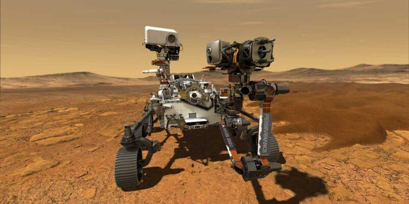 NASA сообщает, что марсоход Perseverance собрал первые образцы Марса (pia23764 rovernameplateonmars web)