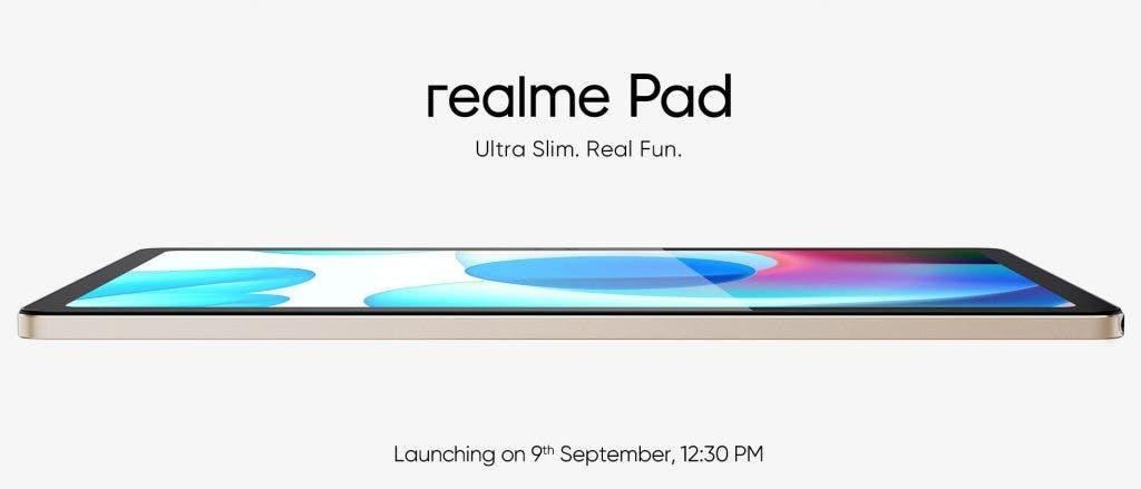 Планшет Realme Pad получит 10,4-дюймовый дисплей и Helio G80 (realme pad india launch teaser 1024x439 1)