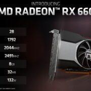 AMD выпустила графические карты Radeon RX 6600 (130180 amd radeon rx 6600 1)