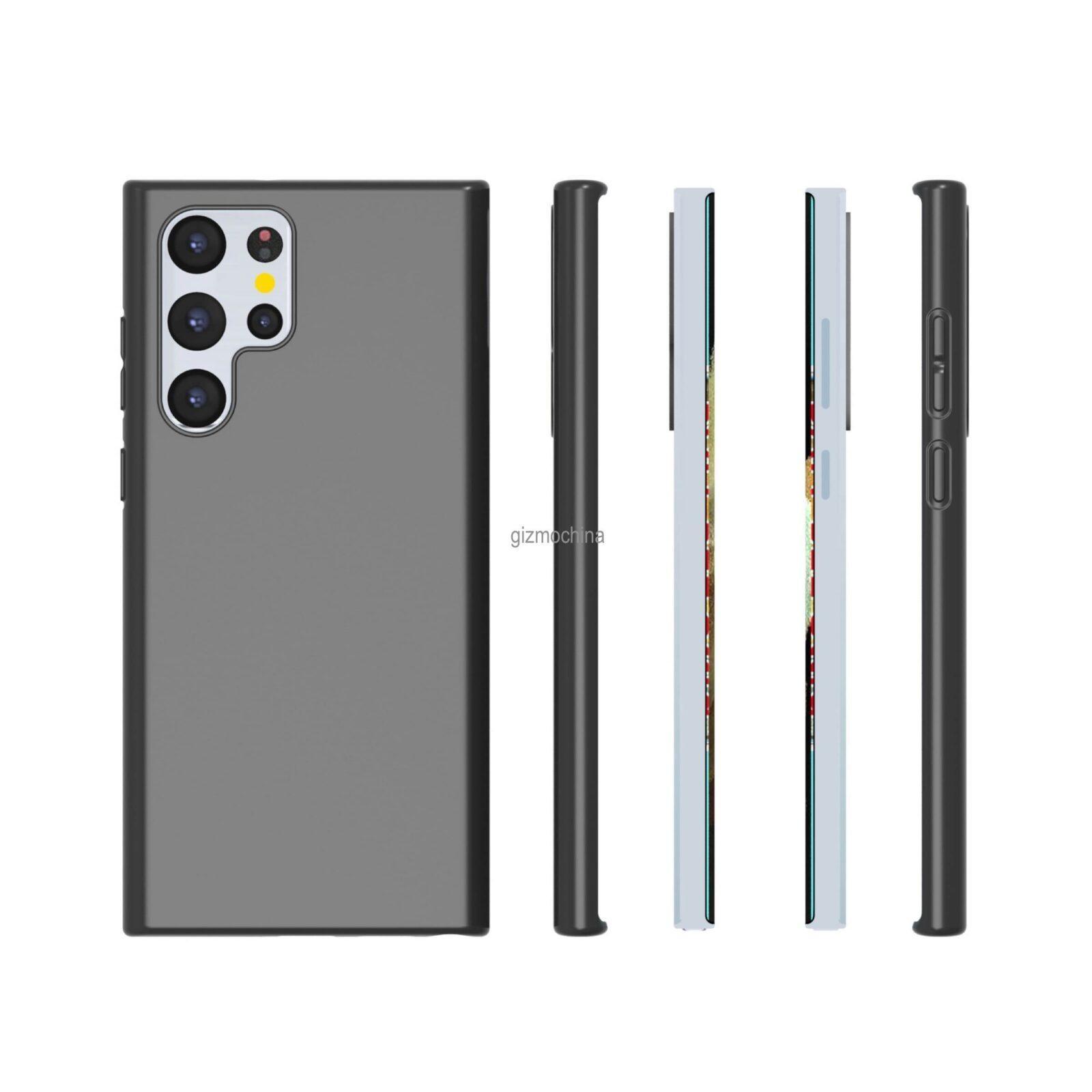 Вот как будет выглядеть флагман Samsung Galaxy S22 Ultra (Galaxy S22 Ultra Case Render 3)