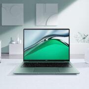 Huawei выпустил премиальный ноутбук MateBook 14s в России (MKT MateBook Creative Lifestyle Shot HQ MKT MateBook 14s Green Creative Shot ID Shots2 JPG 20210811)
