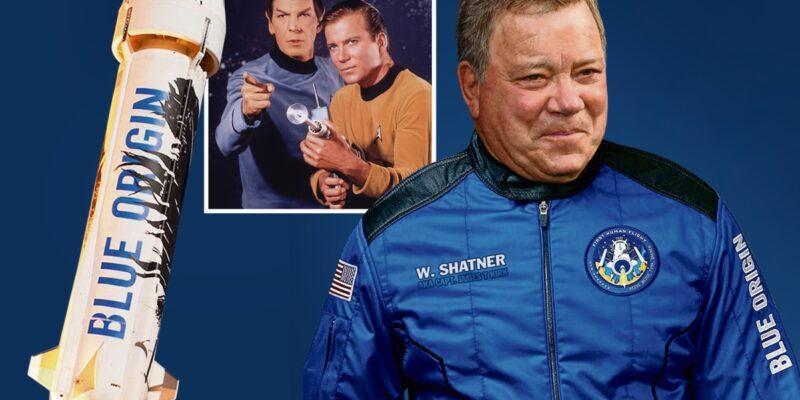 Blue Origin отложила космический полет Уильяма Шатнера до 13 октября (ROB COMP SHATNER)